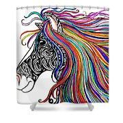 Tattooed Horse Shower Curtain