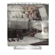 Tea And Gulliver Shower Curtain