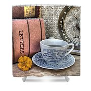 Tea Time Shower Curtain by Jane Linders