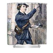 Telegraph Messenger, 1869 Shower Curtain