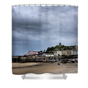 Tenby Harbour From North Beach 2 Shower Curtain