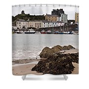 Tenby Harbour From North Beach Shower Curtain