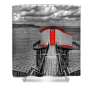 Tenby Lifeboat House Colour Pop Shower Curtain