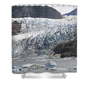 Terminal Moraine And Glacial Lake Shower Curtain