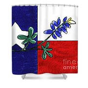 Texas Bluebonnet Shower Curtain