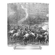 Texas: Cattle Drive, 1867 Shower Curtain