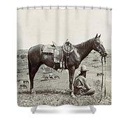 Texas: Cowboy, C1910 Shower Curtain