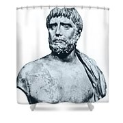 Thales, Ancient Greek Philosopher Shower Curtain by Photo Researchers