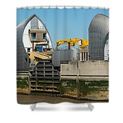 Thames Barrier Shower Curtain