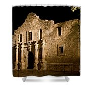 The Alamo At Night Shower Curtain