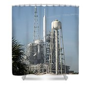 The Ares I-x Rocket Is Seen Shower Curtain