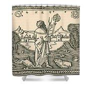 The Astrologer Albumasar Shower Curtain