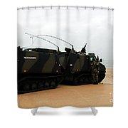 The Bandvagn Bvs10 Viking Used Shower Curtain