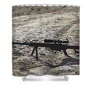 The Barrett M82a1 Sniper Rifle Shower Curtain