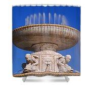 The Belle Isle Scott Fountain Shower Curtain