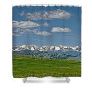 The Bridger Mountains Shower Curtain