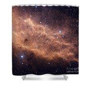 The California Nebula Shower Curtain