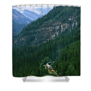 The Canada Pacific Train Travels Shower Curtain