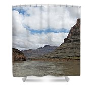 The Colorado River-a Grand Canyon Perspective II Shower Curtain