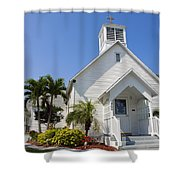 The Community Chapel Of Melbourne Beach Florida Shower Curtain