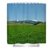 The Crazy Mountains Shower Curtain