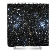 The Double Cluster, Ngc 884 And Ngc 869 Shower Curtain