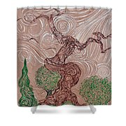 The Earthen Tree Shower Curtain