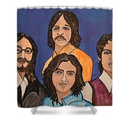 The Fab Four Beatles  Shower Curtain