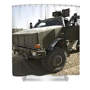 The German Army Atf Dingo Armored Shower Curtain