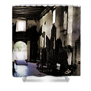 The Ghostly Nave Shower Curtain
