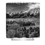 The Grand Tetons And The Snake River Shower Curtain