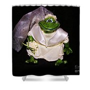 The Green Bride Shower Curtain