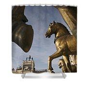 The Horses On The Basilica San Marcos Shower Curtain