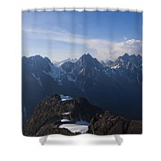 The Jagged Tops Of High Mountain Peaks Shower Curtain