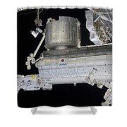 The Japanese Experiment Module Kibo Shower Curtain