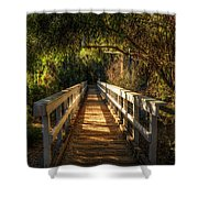 The Little White Bridge II  Shower Curtain