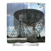 The Lovell Telescope At Jodrell Bank Shower Curtain