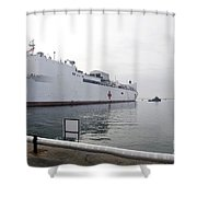 The Military Sealift Command Hospital Shower Curtain