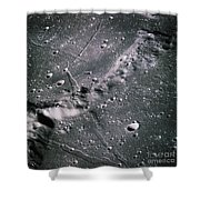 The Moon From Apollo 14 Shower Curtain