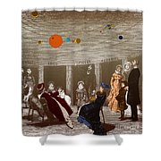The New Planetarium In Paris, 1880 Shower Curtain