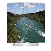 The Niagara River Shower Curtain