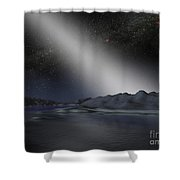 The Night Sky From A Hypothetical Alien Shower Curtain