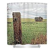 The Old Farm House Shower Curtain