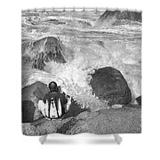 The Photographer On Location Shower Curtain