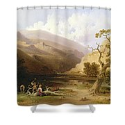 The Pioneers Shower Curtain by Joshua Shaw