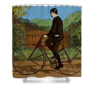 The Rover Bicycle Shower Curtain