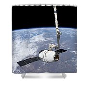 The Spacex Dragon Cargo Craft Shower Curtain
