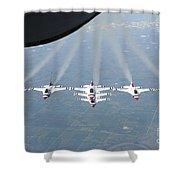 The U.s. Air Force Thunderbird Shower Curtain