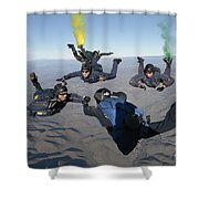 The U.s. Navy Parachute Demonstration Shower Curtain