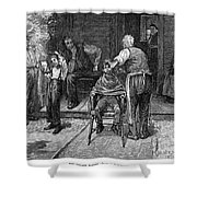 The Village Barber, 1883 Shower Curtain